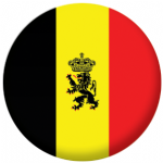 Belgium State Flag 58mm Button Badge